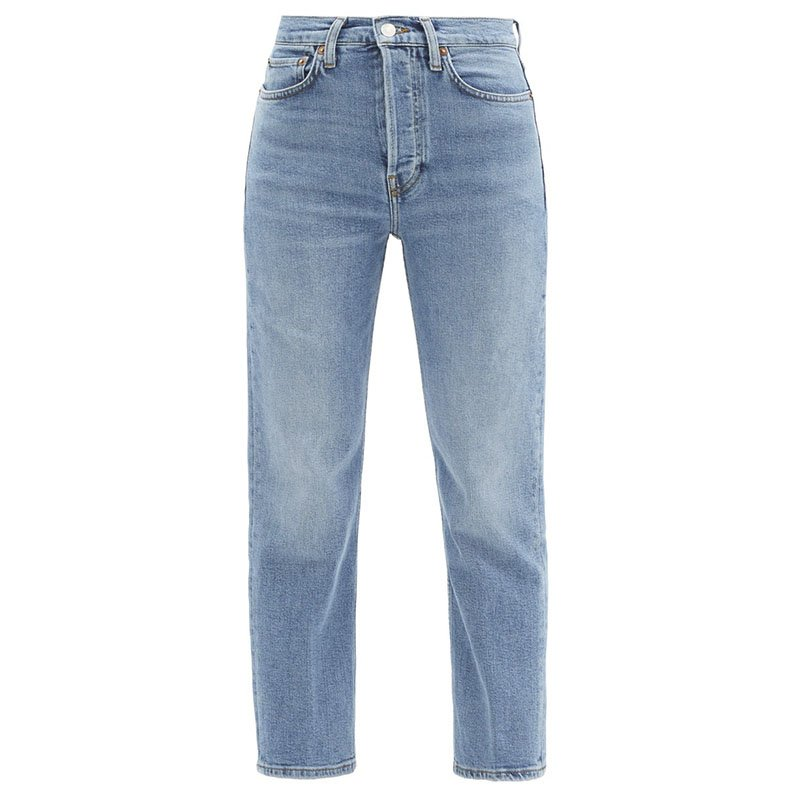 Jean droit taille haute 70s Stove Pipe RE / DONE