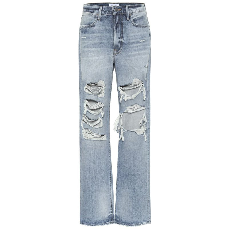 FRAME Jean large taille mi-haute Hollywood