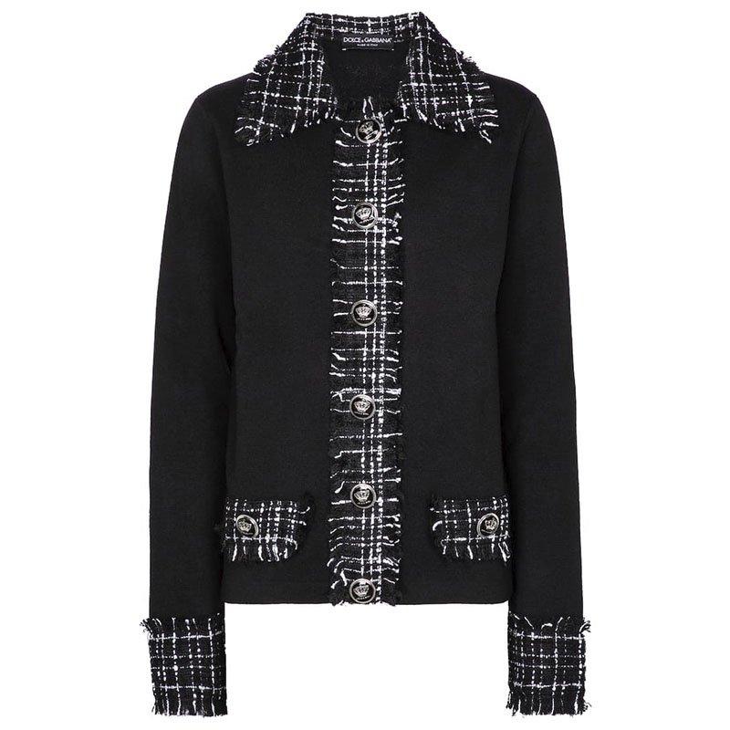 Veste en tweed de laine mélangée DOLCE & GABBANA