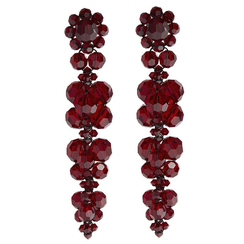Boucles d'oreilles pendantes à ornements cristaux SIMONE ROCHA
