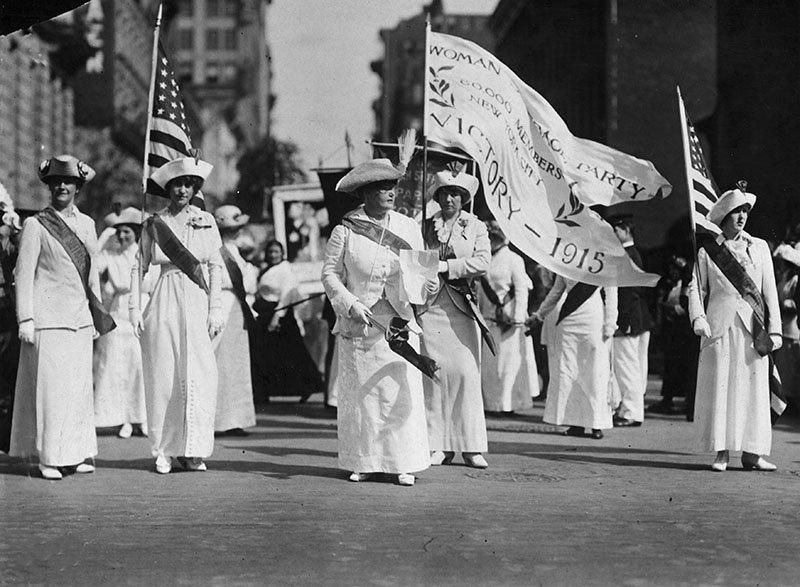 Procession du Parti du suffrage des femmes à New York