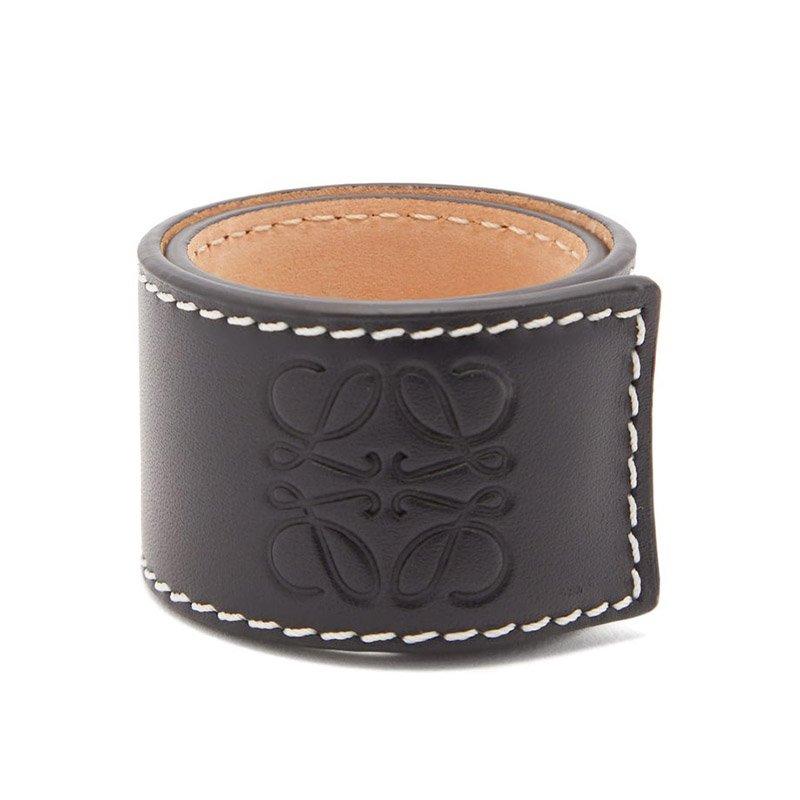 Bracelet pression en cuir à logo anagram LOEWE