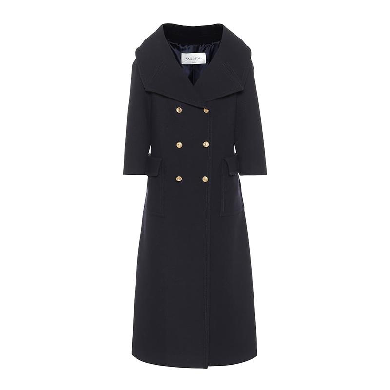 VALENTINO manteau en laine à double boutonnage Valentino