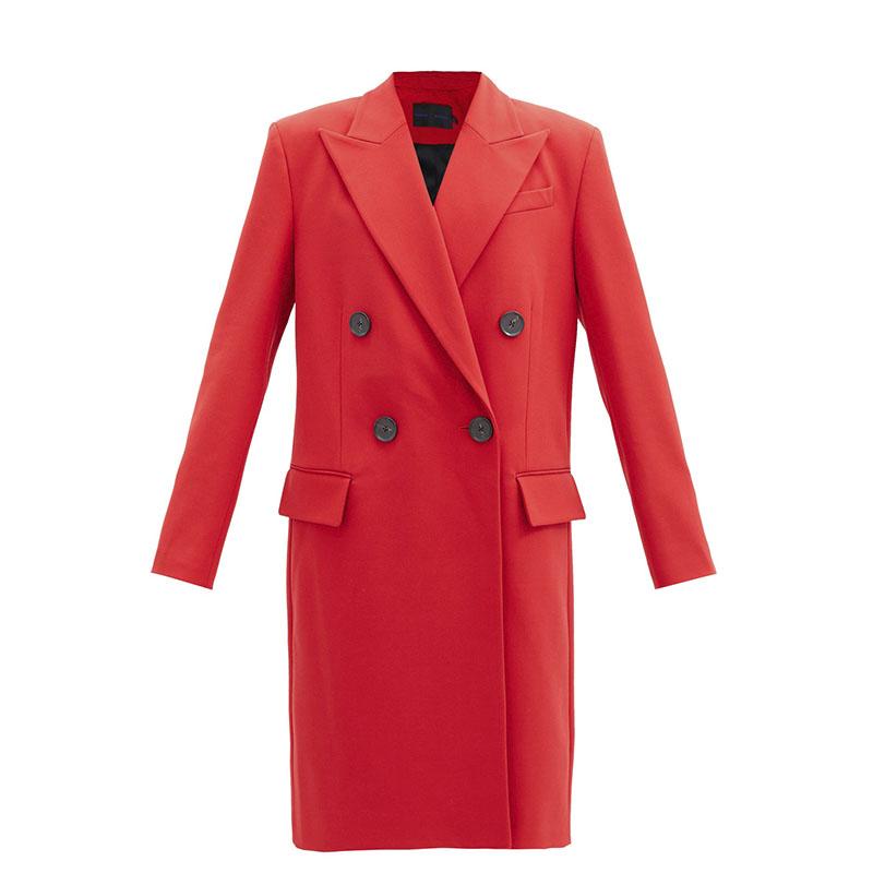 PROENZA SCHOULER Manteau en sergé à double boutonnage