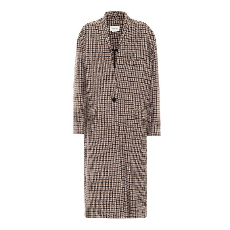 ISABEL MARANT, ÉTOILE Manteau en laine pied-de-poule Henol